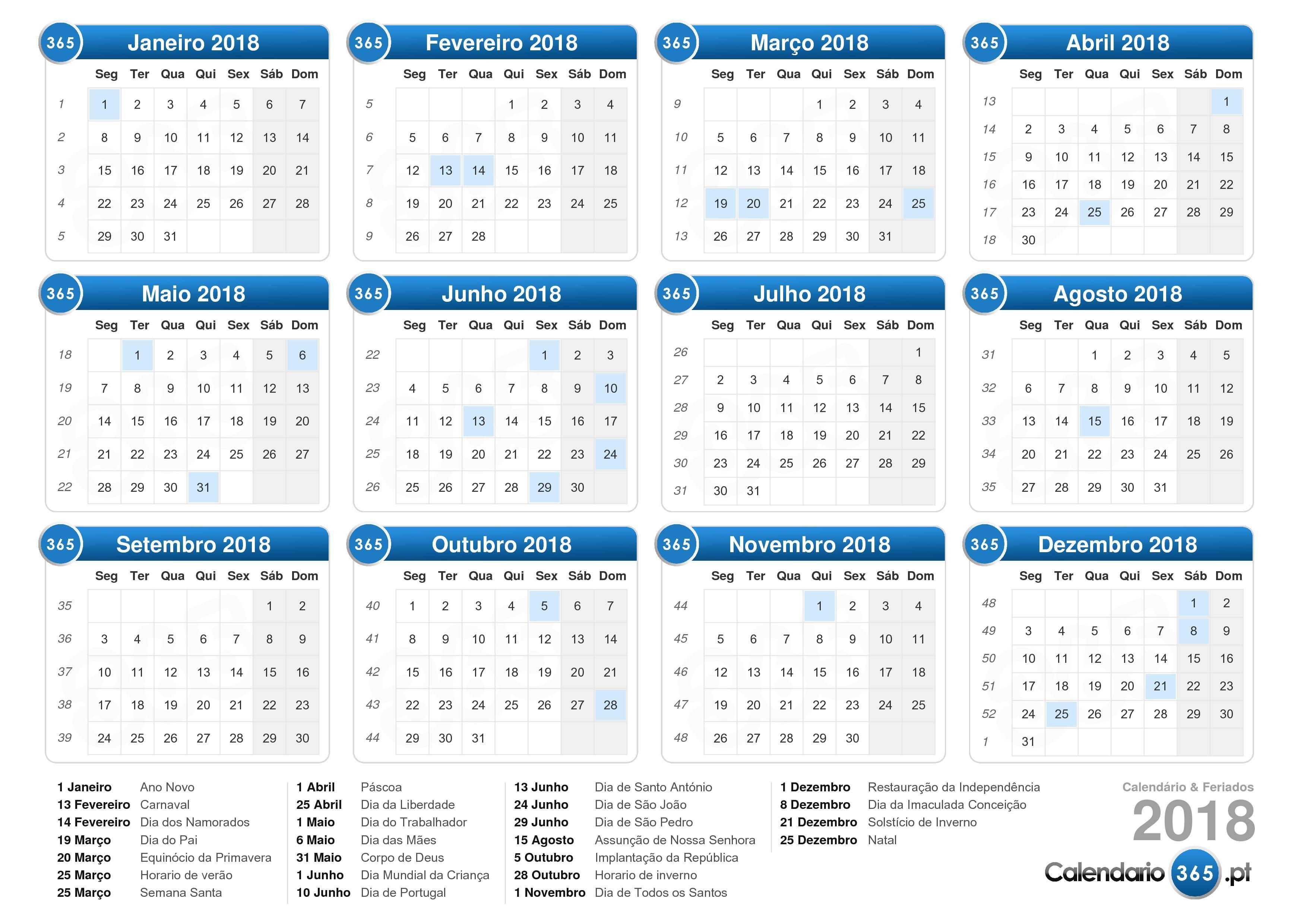 Calendario De 2019 Com Todos Os Feriados